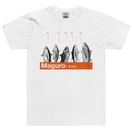 maguro white tshirt