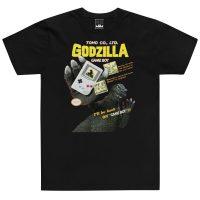 godzilla gameboy black tshirt